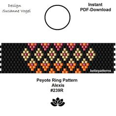 DETAILS: Alexis-warm colors #239R Peyote ring pattern - The ring-length is adjustable. Size: 1,6 cm x 6,2 cm / 0.63 x 2.44 - even count Beads: Miyuki Delica 11/0 >>>>>>>>>>>>> Coupons-codes: <<<<<<<<<<< 10% discount code: 10PERCENTOFF (Minimum Purchase: € 15,00) 15% discount code: 15PERCENTOFF (Minimum Purchase: € 20,00) 20% discount code: 20PERCENTOFF (Minimum Purchase: € 25,00) 25% discount code: 25PERCENT...