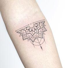 alf mandala for Carolin 🖤 Made at my studio 🌿 ————. - alf mandala for Carolin 🖤 Made at my studio 🌿 ———— . Mandala Tattoo Design, Tribal Tattoo Designs, Forearm Mandala Tattoo, Mandala Tattoo Meaning, Lotus Mandala Meaning, Sunflower Mandala Tattoo, Tattoos Bein, Line Tattoos, Arm Tattoos