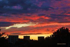 Beautiful sunset above Croydon