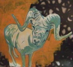Graphic Goat; latex and acrylic on panel 2006 by Jannicke Swing