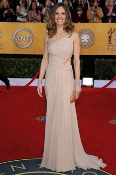 Hilary Swank with our Evening Clutch