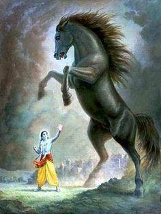 Kalki avtaar of lord krishna Krishna Radha, Iskcon Krishna, Krishna Leela, Krishna Statue, Cute Krishna, Radha Krishna Pictures, Lord Krishna Images, Krishna Drawing, Krishna Painting