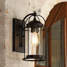 Ballard Designs - Verano Outdoor Wall Sconce - The caged design of our Verano Outdoor Wall Sconce is nautically inspired with a modern flair...