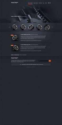 Prinstrip – A free website template PSD