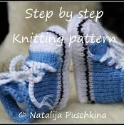 Knitting pattern Babies Shoes Sock - via @Craftsy
