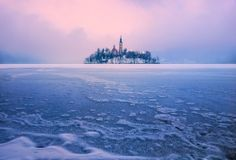 Icy carpet by Ales Komovec Lake Bled, Its Cold Outside, World's Biggest, Mind Blown, Airplane View, Photo Galleries, Carpet, Gallery, Photography
