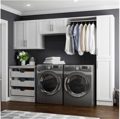 Modifi Horizon 105 in. W White Laundry Cabinet The Home Depot Horizon 105 in. W White Laundry Cabinet Kit The post Modifi Horizon 105 in. W White Laundry Cabinet The Home Depot appeared first on Design Ideas. Modern Laundry Rooms, Laundry Room Layouts, Laundry Room Remodel, White Laundry Rooms, Laundry Room Cabinets, Laundry Room Organization, Storage Organization, Storage Ideas, Storage Shelves