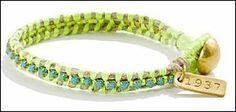 friendship bracelet, weave bracelet, fashionrooftop, madewell, green, neon, pastel