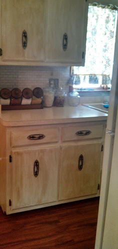 One day at a time: DIY Kitchen Cabinet Refinish!
