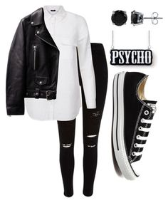 """""""Motor bike casual"""" by shamelesslymaya on Polyvore featuring River Island, Converse, BERRICLE, women's clothing, women, female, woman, misses and juniors"""