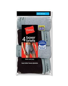 Hanes Mens TAGLESS  2XL Boxer Briefs with Comfort Flex  Waistband 4Pack Assorted BlackGrey Size  2XL * You can find out more details at the link of the image.Note:It is affiliate link to Amazon.