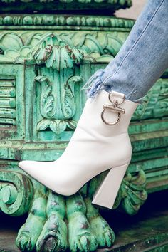 8067ad9d101 49 Best White ankle boots images in 2019
