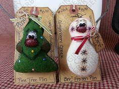 E-Pattern Christmas Nature Pins/Ornies от GingerberryCreek