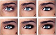 6 step eye makeup for blue eyes :)