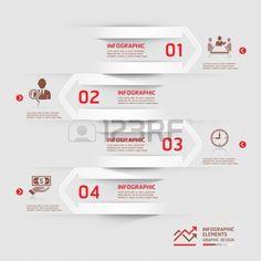 モダンなビジネス infographics 紙カット矢印の背景。イラスト。ワークフローのレイアウト、図、番号のオプション、ビジネス ステップ オプション、バナー、web デザインに使用できます。  イラスト・ベクター素材