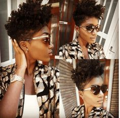 The Perfect Braid Out on a Tapered Cut will leave you with defined curls