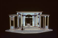 Blood Relations (Model). National Arts Centre Studio. Scenic design by Robin Fraser Paye. 1981