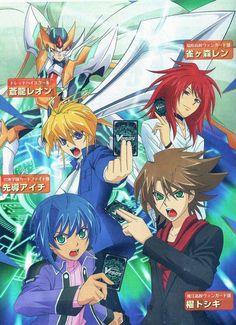 Kai, Aichi, Ren, Leon and Blaster Blade Liberator