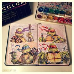 TMNT Spread by ~AlexDeligiannis on deviantART