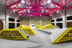 CONARTE, children's library and cultural center  in Monterrey, Mexico / Anagrama