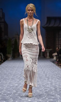 Crochet inspiration on the runway ~ photo only