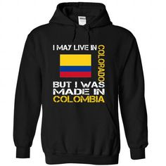 I May Live in Colorado But I Was Made in Colombia - #funny hoodie #hoodie allen. SECURE CHECKOUT => https://www.sunfrog.com/States/I-May-Live-in-Colorado-But-I-Was-Made-in-Colombia-fdwmffnqct-Black-Hoodie.html?68278