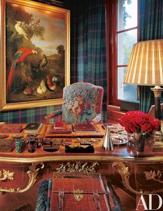 Designer Ralph Lauren opens up the doors of the the Norman-style stone manor house that he shares with his wife, Ricky, in Bedford, New York