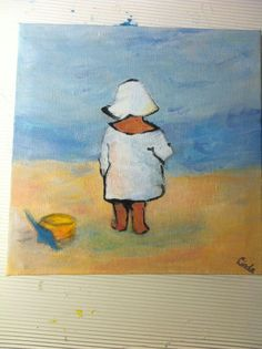 Peutertje aan het strand