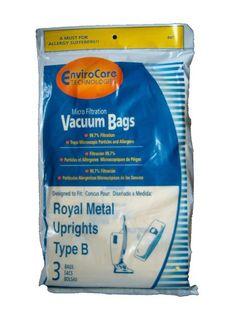 Royal Upright Type B Vacuum Cleaner Allergy Bags, Top Full Vacuum Cleaners