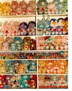 Vintage Care Bears - this is how i wanna display mine...