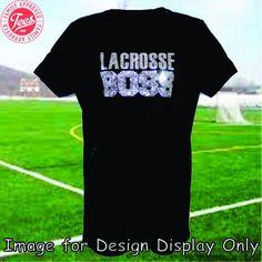 """Lacrosse Boss"" Rhinestone Tee"