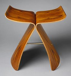 "Sori Yanagi: ""Butterfly"" stool (model no. T-0521) (1988.195)   Heilbrunn Timeline of Art History   The Metropolitan Museum of Art"