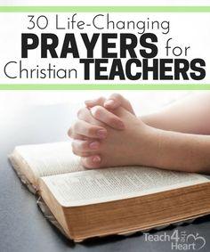 30 life-changing prayers for christian teachers