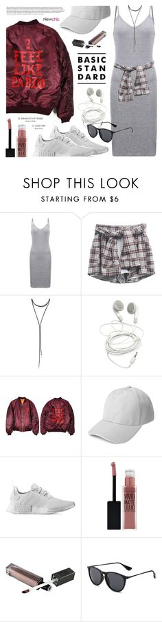 """""""Casual Chic"""" by noviii ❤ liked on Polyvore featuring Forever 21, adidas, Maybelline, Avenue, CasualChic, casualfriday and sportychic"""