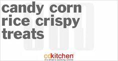 Candy Corn Rice Crispy Treats from CDKitchen.com