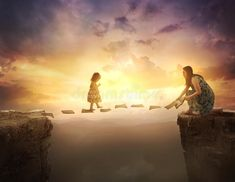 Child Walking On Pages Over Cliff Stock Photo - Image of concept, christian: 92711700 Photoshop For Photographers, Photoshop Photography, Photoshop Actions, Bible Photos, Ok Design, Night Aesthetic, Family Illustration, Prophetic Art, Think And Grow Rich
