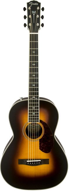 Fender PM-2 Deluxe Paramount Parlor Acoustic Electric Guitar