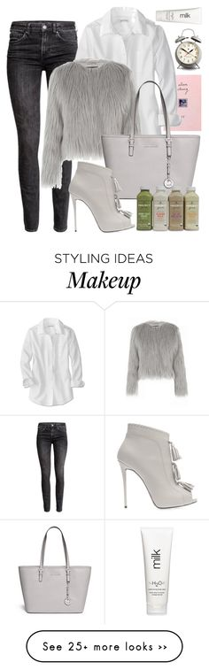 """""""In a rush?"""" by chlo-lane on Polyvore featuring H&M, Warehouse, Michael Kors, Giuseppe Zanotti, Newgate and H2O+"""