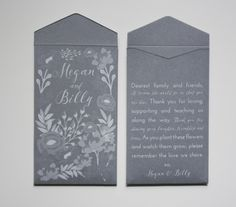 Custom Printed Seed Packet Wedding Favors  Many by Megmichelle
