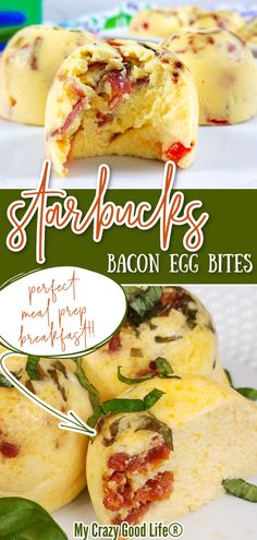 These Copycat Starbucks Bacon Egg Bites are my go to breakfast for meal prep because they are loaded with protein, and make an easy grab and go breakfast. I also love that this is not only an easy recipe, but a quick one that only takes a few minutes. #mealprep #copycat #breakfast #lowcarb #easybreakfast #healthy #healthybreakfast #cleaneats
