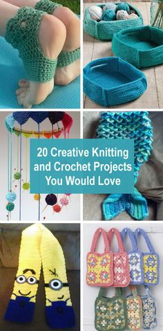 Creative Knitting and Crochet Projects You Would LoveKnitting and crocheting are an interesting hobby and a useful and rewarding skill. It is also an art form that is relatively simple to learn once you . Crochet Simple, Free Crochet Bag, Crochet Fall, Crochet Toys, Knit Crochet, Crochet Square Patterns, Crochet Stitches Patterns, Knitting Patterns, Knitted Bunnies