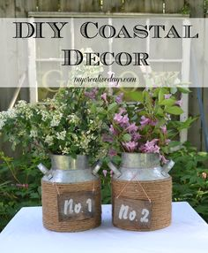 DIY Coastal Decor from mycreativedays.com.