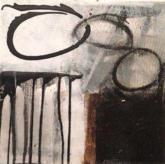 Acrylmalerei - Holzobjekt. 30 x 30 cm . Asche. Sand. Abstrakt - ein Designerstück von SCHMUCK-KUNST-WERKstatt bei DaWanda