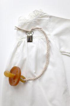 DIY Braided : DIY Braided Leather Binkie Clip