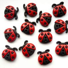 Love these ladybirds for new stud earrings, can't wait to get started!