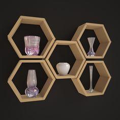 Wooden Shelf 3D Model | Download Royalty Free Interior Furniture 3D Models - 3D Squirrel