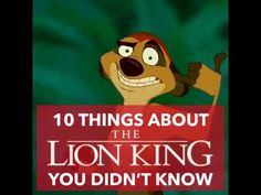 10 strange facts about Disney's The Lion King you didn't know