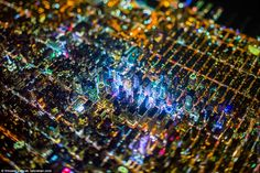 The city that never sleeps: The bright lights of Times Square (centre) in the middle of Ma...