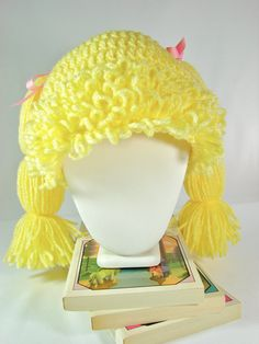CUSTOM Crochet Cabbage Patch Wig/Hat for Girls & by TheLilliePad, $20.00
