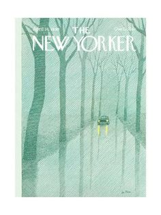 The New Yorker Cover - April 1980 Poster Print by Pierre LeTan at the Condé Nast Collection The New Yorker, New Yorker Covers, Old Magazines, Vintage Magazines, Magazine Illustration, Illustration Art, Magazine Art, Magazine Covers, Vintage Travel Posters